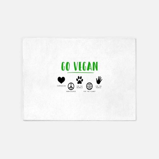 Vegan Food Healthy 5'x7'Area Rug