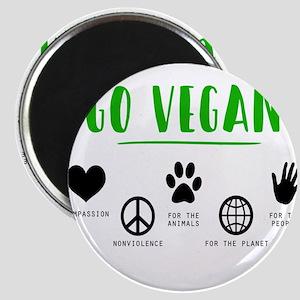 Vegan Food Healthy Magnets