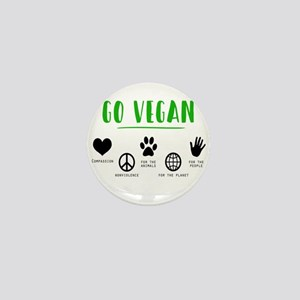 Vegan Food Healthy Mini Button