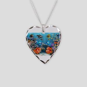 Underwater Necklace Heart Charm