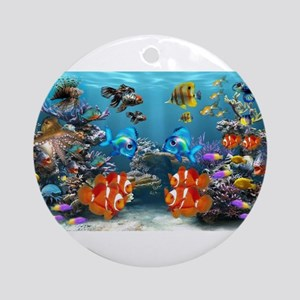Underwater Round Ornament