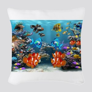 Underwater Woven Throw Pillow