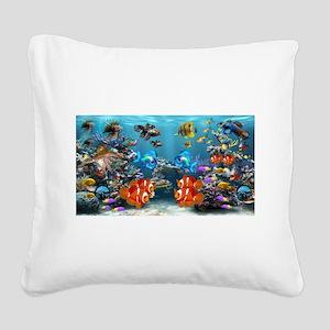 Underwater Square Canvas Pillow