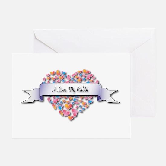 Love My Rabbi Greeting Card