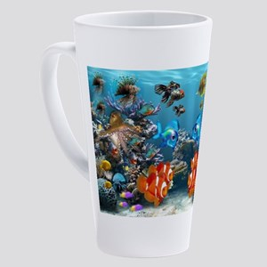 Underwater 17 oz Latte Mug