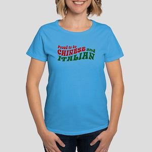 Proud Chinese and Italian Women's Dark T-Shirt