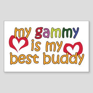 Gammy is My Best Buddy Rectangle Sticker