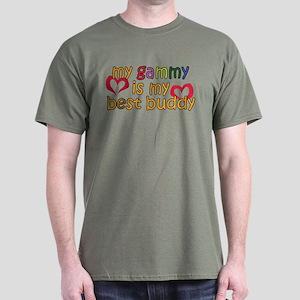 Gammy is My Best Buddy Dark T-Shirt