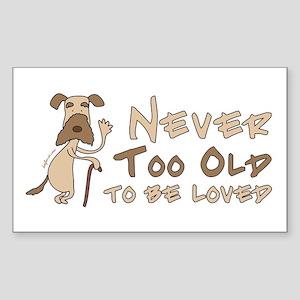 Senior Dog Adoption Rectangle Sticker