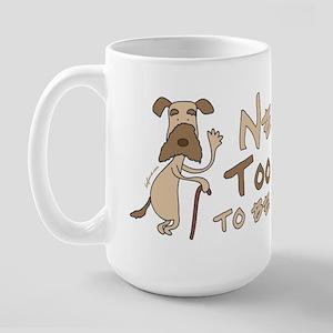 Senior Dog Adoption Large Mug