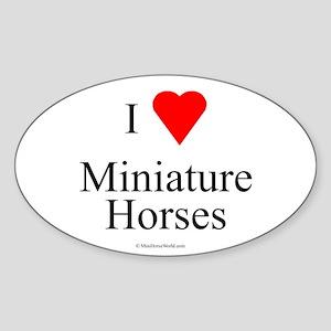 I Love Miniature Horses Oval Sticker