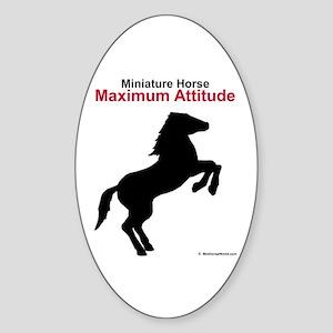 Miniature Horse Maximum Attitude Oval Sticker