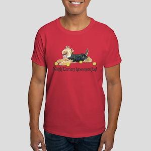 Welsh Terriers Fun Dogs Dark T-Shirt