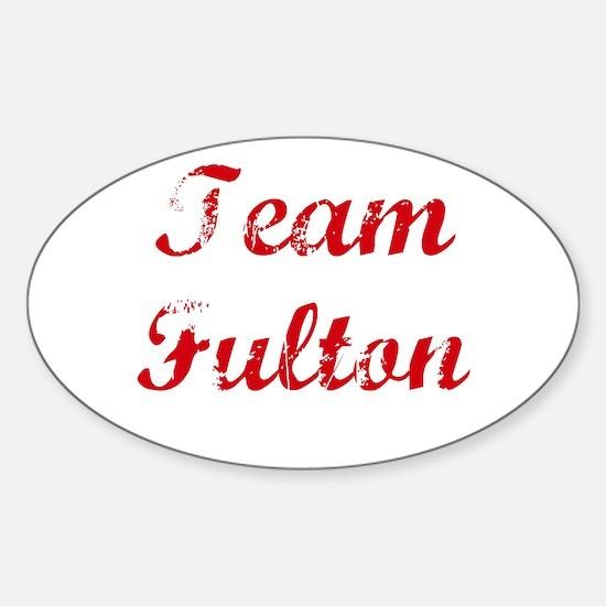 TEAM Fulton REUNION Oval Decal