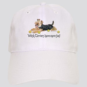 Welsh Terriers Fun Dogs Cap