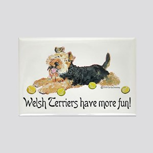 Welsh Terriers Fun Dogs Rectangle Magnet
