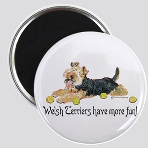Welsh Terriers Fun Dogs Magnet