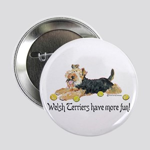 "Welsh Terriers Fun Dogs 2.25"" Button"