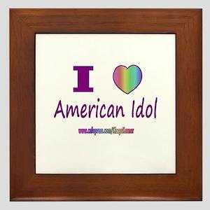 LOVE AMERICAN IDOL Framed Tile