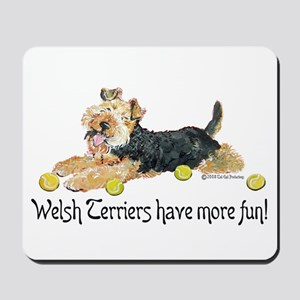 Welsh Terriers Fun Dogs Mousepad