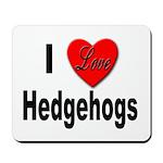 I Love Hedgehogs Mousepad