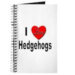I Love Hedgehogs Journal