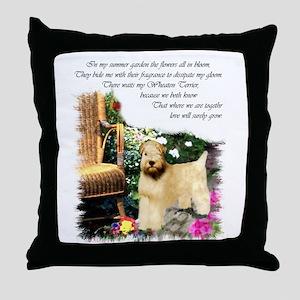 Wheaten Terrier Art Throw Pillow