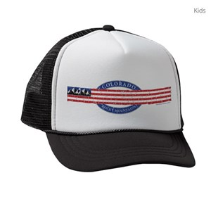 4ad0cb73a9788 Rocky Mountains Kids Trucker Hats - CafePress