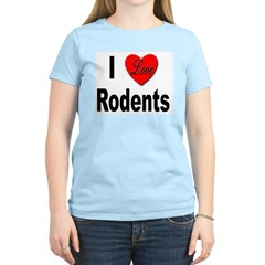 I Love Rodents (Front) Women's Pink T-Shirt