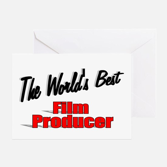 """The World's Best Film Producer"" Greeting Card"