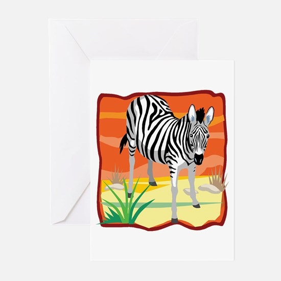 African Zebra Greeting Cards (Pk of 10)