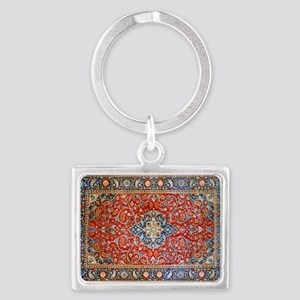 Red Blue Antique Persian Rug Keychains