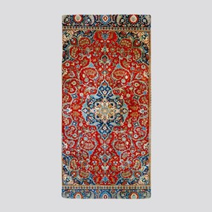 Red Blue Antique Persian Rug Beach Towel