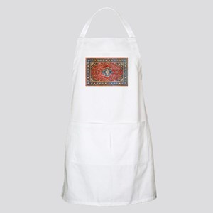 Red Blue Antique Persian Rug Light Apron