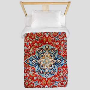 Red Blue Antique Persian Rug Twin Duvet Cover