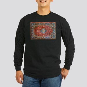Red Blue Antique Persian Rug Long Sleeve T-Shirt