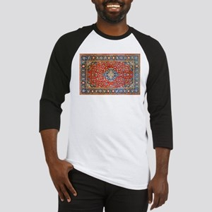 Red Blue Antique Persian Rug Baseball Jersey