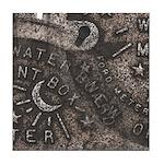 Water Meter Lid Square Tile Mural #2
