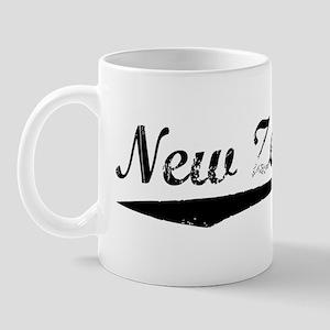 Vintage New Zealand (Black) Mug