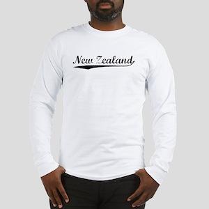 Vintage New Zealand (Black) Long Sleeve T-Shirt