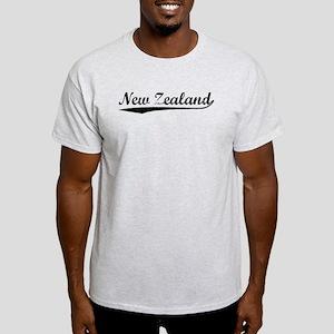 Vintage New Zealand (Black) Light T-Shirt