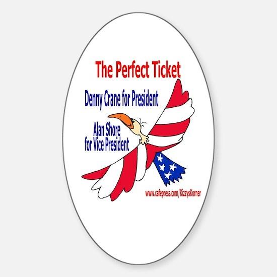BL PRESIDENT Oval Bumper Stickers