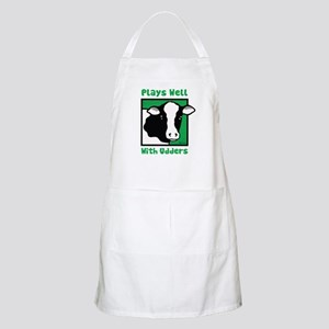 Plays Well With Udders BBQ Apron