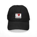I Love Honolulu Black Cap