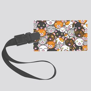 Funny Cats Large Luggage Tag
