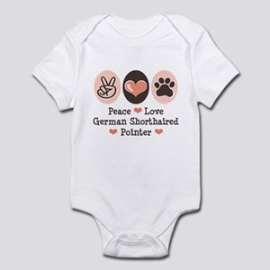 Peace Love G Shorthaired Pointer Infant Bodysuit