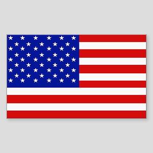 American Flag Bumper Rectangle Sticker