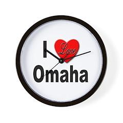 I Love Omaha Wall Clock