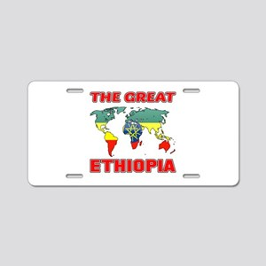 The Great Ethiopia Designs Aluminum License Plate