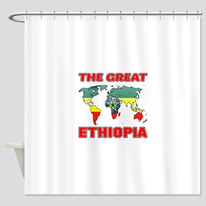 The Great Ethiopia Designs Shower Curtain